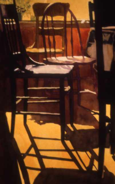 Painting of chairs